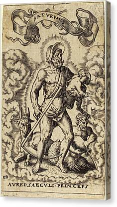 Sebald Beham German, 1500 - 1550, Saturn Canvas Print by Quint Lox