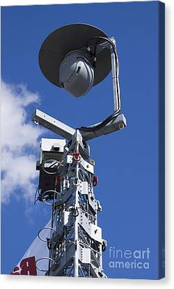 Security Camera On Tower Canvas Print