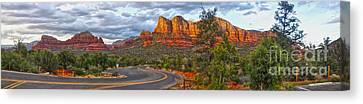 Sedona Arizona Panorama Canvas Print by Gregory Dyer