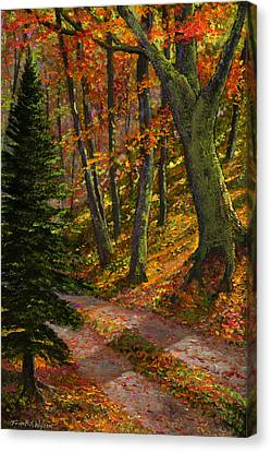September Road Canvas Print by Frank Wilson