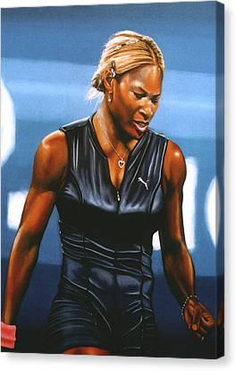 Slam Canvas Print - Serena Williams by Paul Meijering