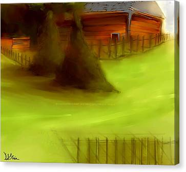 Serene New England Cabin In Summer  #2 Canvas Print by Diane Strain
