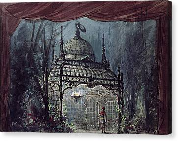 Set Design For The Magic Flute By Wolfgang Amadeus Mozart  Canvas Print by French School