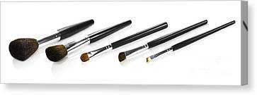 Set Of Makeup Brushes Canvas Print by Jorgo Photography - Wall Art Gallery