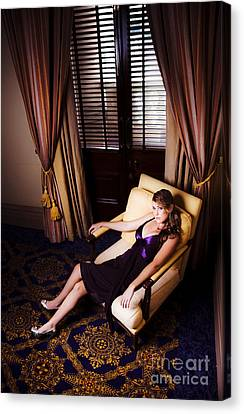 Sexy Female Model In Glamour Fashion  Canvas Print by Jorgo Photography - Wall Art Gallery