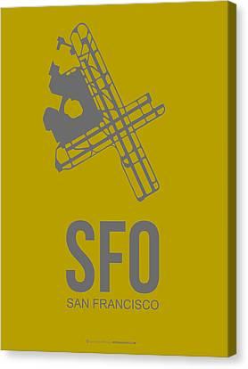 Sfo San Francisco Airport Poster 2 Canvas Print by Naxart Studio