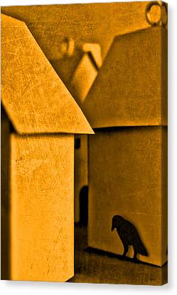 Canvas Print featuring the photograph Shadow Of A Crow by Jeff  Gettis