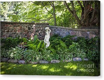 Shady Perennial Garden Canvas Print