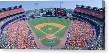 Shea Stadium, Ny Mets V. Sf Giants, New Canvas Print by Panoramic Images