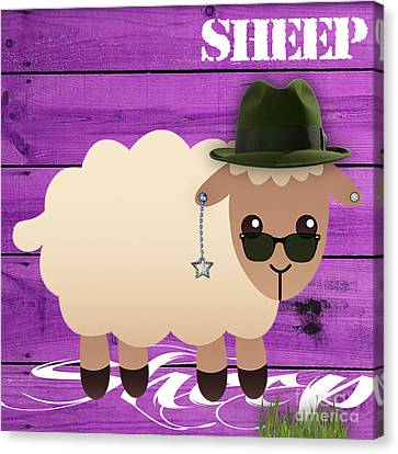 Sheep Collection Canvas Print