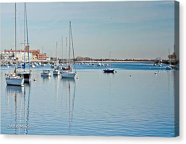Canvas Print featuring the photograph Sheepshead Bay Harbor by Ann Murphy