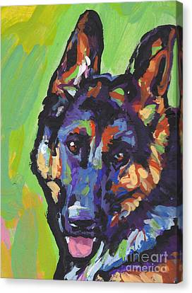 German Shepherd Canvas Print - Sheppy by Lea S