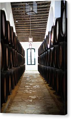 Cellar Canvas Print - Sherry Casks In A Winery, Gonzalez by Panoramic Images