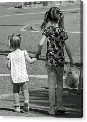 Canvas Print featuring the photograph She's My Sister by E Faithe Lester