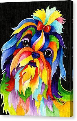 Shih Tzu Canvas Print by Sherry Shipley