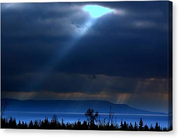 Shining A Light Over The Bay Canvas Print