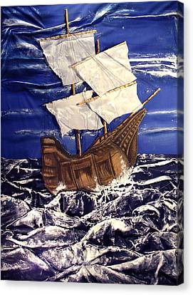 Ship Canvas Print by Angela Stout