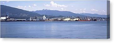 Shipyard At Vancouver, British Canvas Print by Panoramic Images
