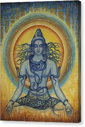 Shiva Canvas Print by Vrindavan Das