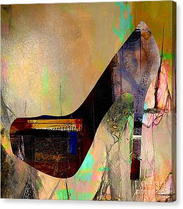 High Heels Canvas Print - Shoe Art by Marvin Blaine