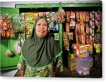 Shopkeeper With Leprosy Canvas Print