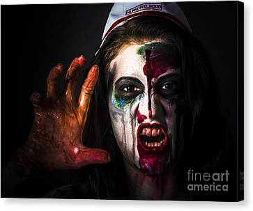 Shouting Monster Reaching With Fear Gripping Anger Canvas Print by Jorgo Photography - Wall Art Gallery