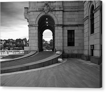 Cityhall Canvas Print - Side Entrance  by Lourry Legarde