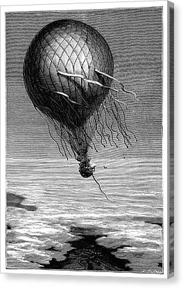 Lost At Sea Canvas Print - Siege Of Paris Balloon Flight by Science Photo Library