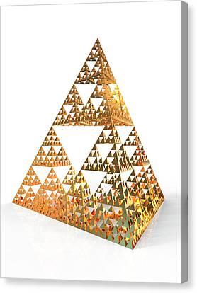 Sierpinski Fractal Pyramid Canvas Print