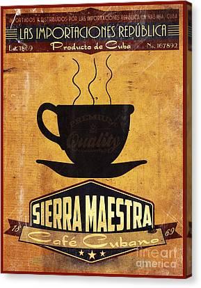 Sierra Maestra Cuban Coffee Canvas Print by Cinema Photography