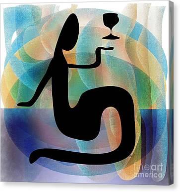 Canvas Print featuring the digital art Silhouette by Iris Gelbart