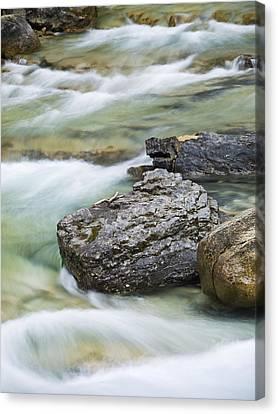 Silk And Stone Johnston Canyon Canvas Print