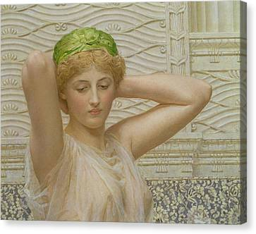 Silver Canvas Print by Albert Joseph Moore