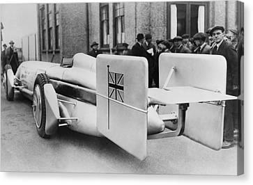 Silver Bullet Race Car Canvas Print