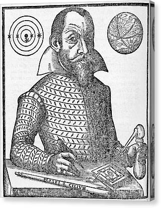 Observer Canvas Print - Simon Marius, German Astronomer by Middle Temple Library