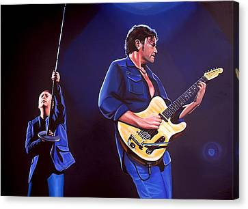 New Stage Canvas Print - Simple Minds by Paul Meijering