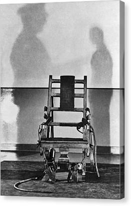Sing Sing Electric Chair Canvas Print by Underwood Archives