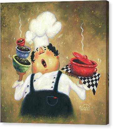 Singing Chef Canvas Print