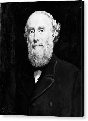 Collier Canvas Print - Sir George Williams (1821-1905) by Granger