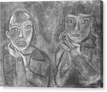 Sisters Canvas Print by Khristin Kelly