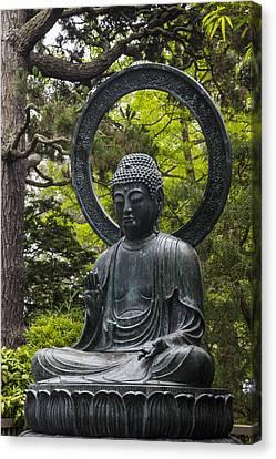 Tea Tree Canvas Print - Sitting Buddha by Adam Romanowicz