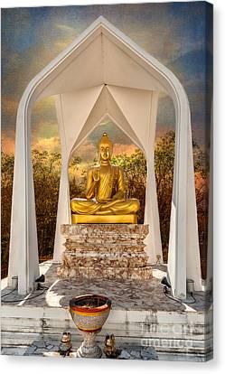 Buddhist Canvas Print - Sitting Buddha by Adrian Evans