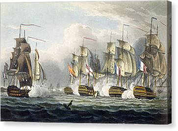 Situation Of The Hms Bellerophon Canvas Print