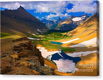 Canvas Print featuring the photograph Siyeh Pass by Aaron Whittemore