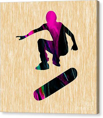 Skateboarder Canvas Print by Marvin Blaine