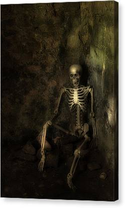 Skeleton Canvas Print by Amanda Elwell