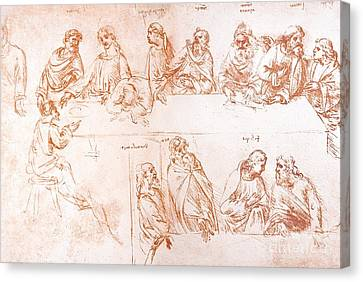 Sketch For The Last Supper Canvas Print by Sheila Terry