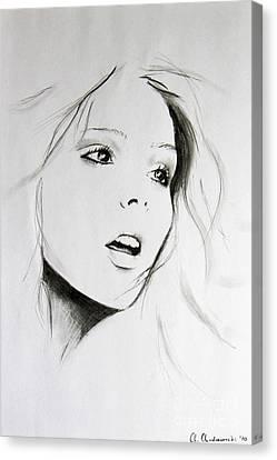 Sketch Of Beauty Canvas Print by Anna Androsovski