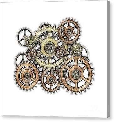 Sketch Of Machinery Canvas Print by Michal Boubin