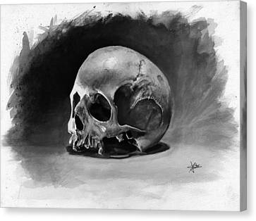 Skull Canvas Print by Christian Klute